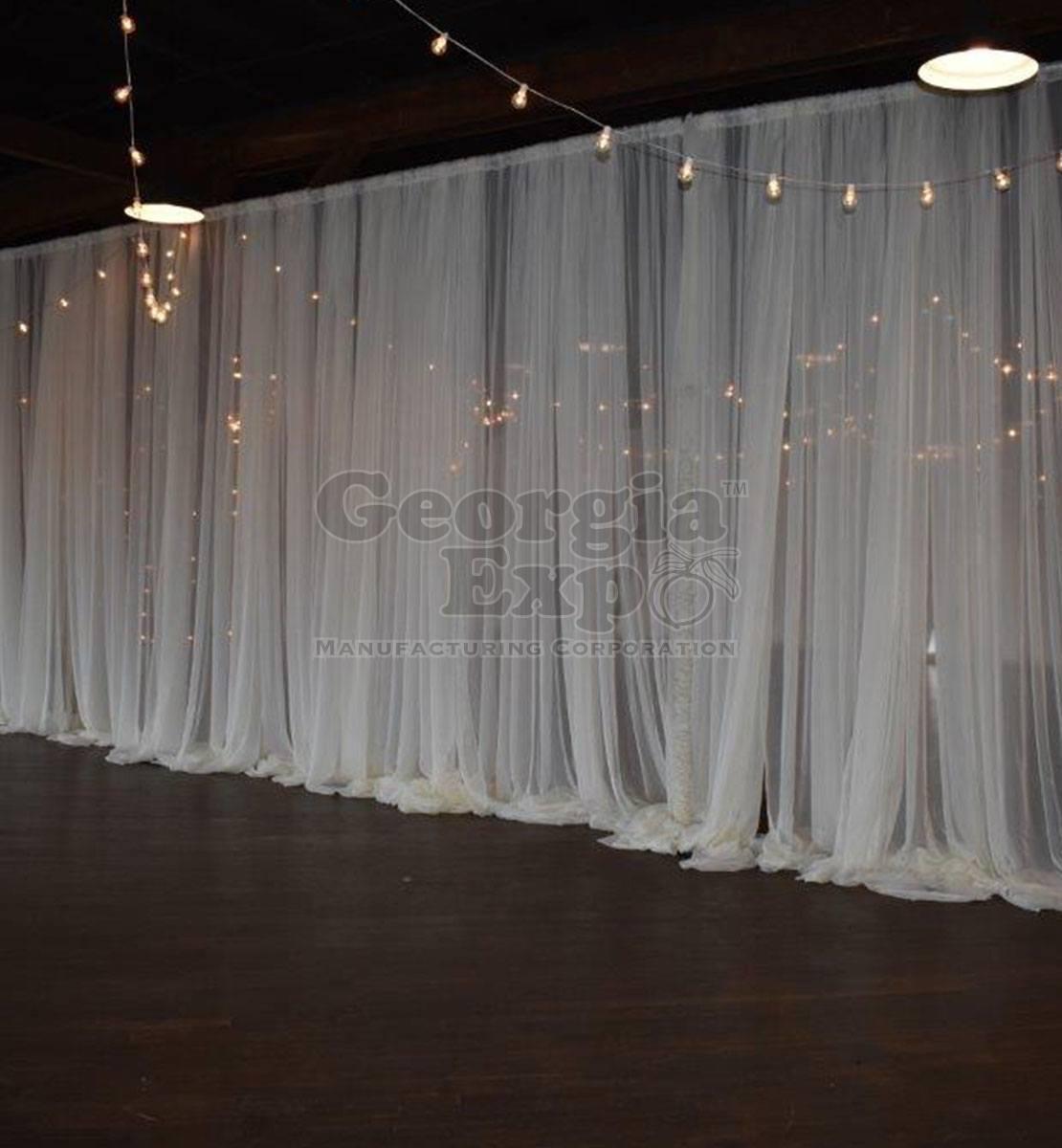 Sheer Drape Voile Sheer Fabric Drape Panels Georgia Expo
