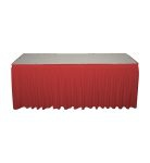 red poly premier skirting