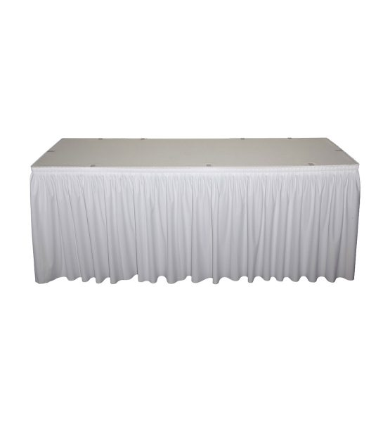 while poly premier skirting