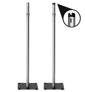 silver 3 to 5 foot uprights