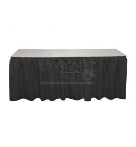 black Banjo table skirting