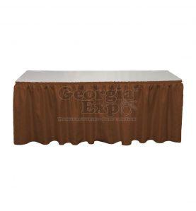 brown Banjo table skirting