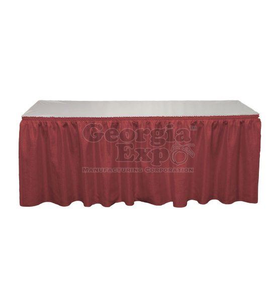 burgundy Banjo table skirting