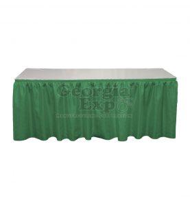 forest green Banjo table skirting