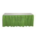 kelly green Banjo table skirting