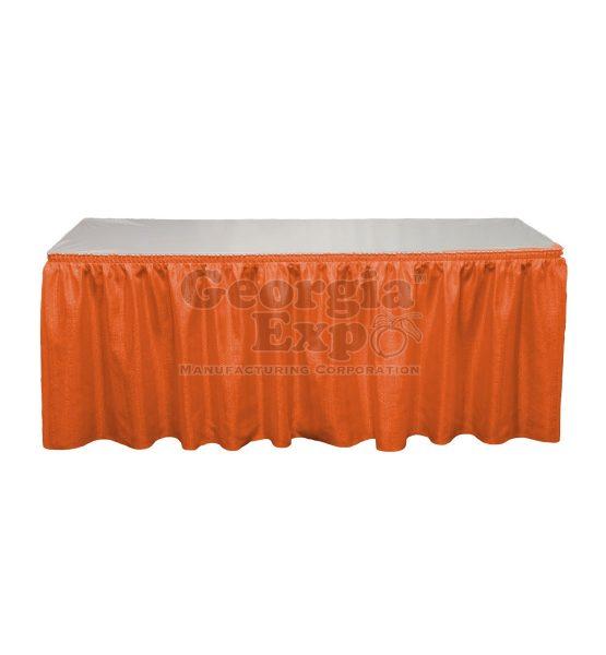 orange Banjo table skirting