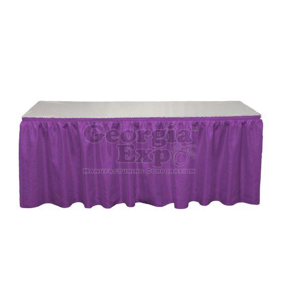 violet Banjo table skirting