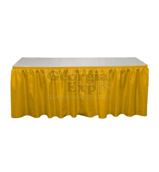 yellow Banjo table skirting