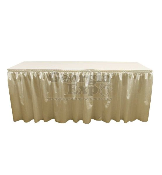 poly knit table skirt beige
