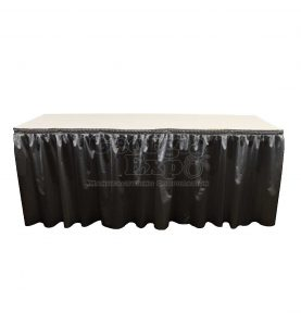 poly knit table skirt black