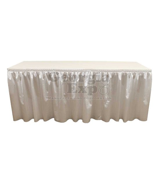 poly knit table skirt dove