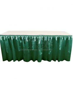 poly knit table skirt Forest Green