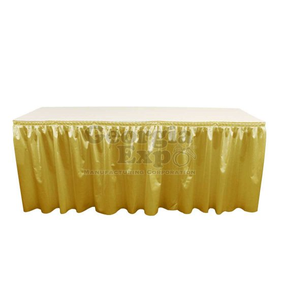 poly knit table skirt yellow