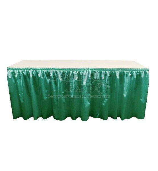 poly knit table skirt Hunter Green