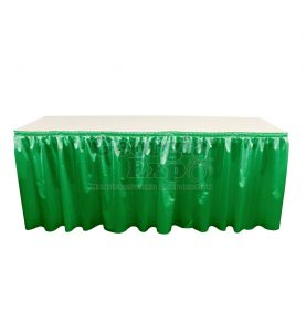 poly knit table skirt kelly green