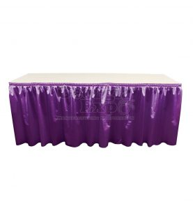 poly knit table skirt violet