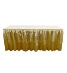 poly knit table skirt gold