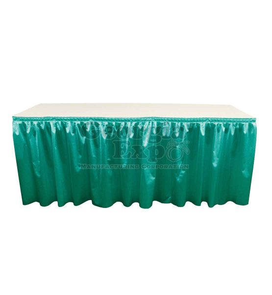 poly knit table skirt Teal