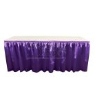 poly knit table skirt plum