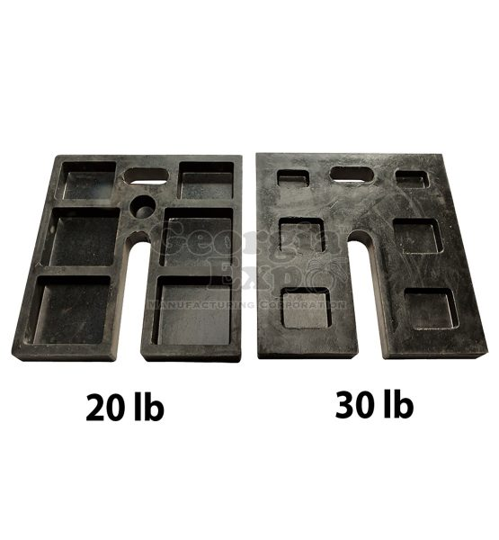 rubber base weight comparison