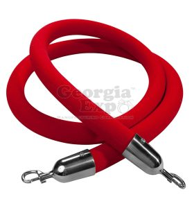 velour rope red