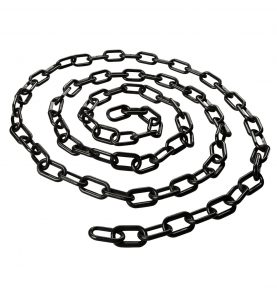 black plastic stanchion chain