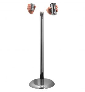 interchangeable head piece stanchion silver