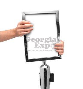 Vertical Sign Holder Polished Chrome