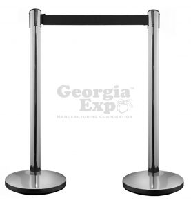 retractable belt stanchion polished chrome