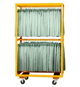 double hanger cart orange