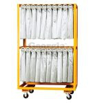 double rolled skirt cart orange