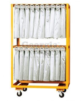 double rolled skirt cart orange