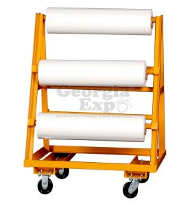 vinyl roll cart orange