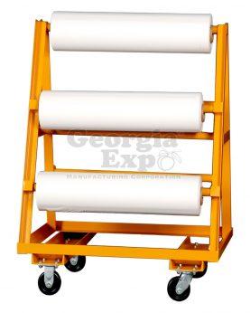 vinyl roll cart orange