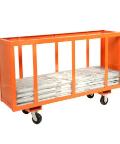 easel cart orange
