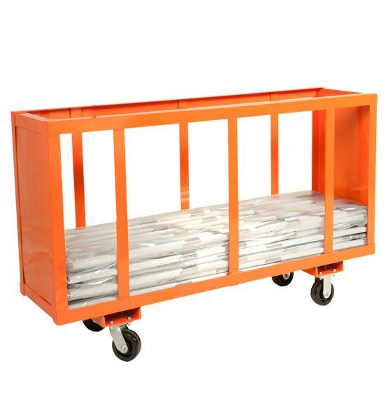 easel cart orange