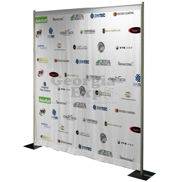 backdrop with logos