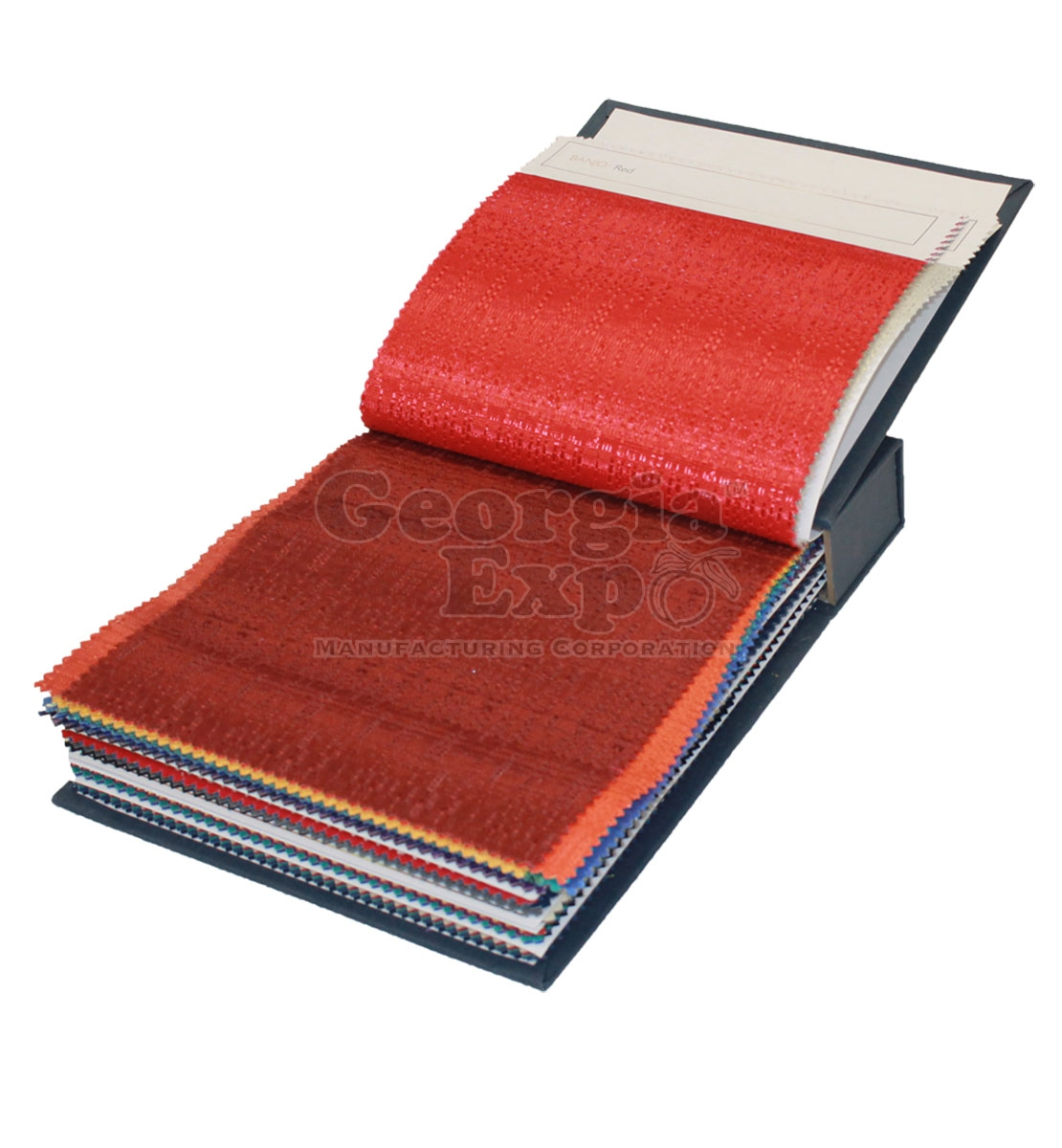 Portable Expo Stands : Fabric sample book drape and panels