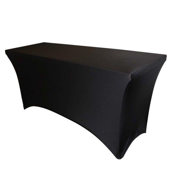 black table cover spandex