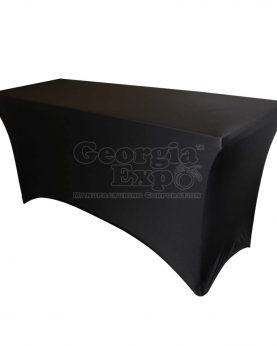 black table cover spandex