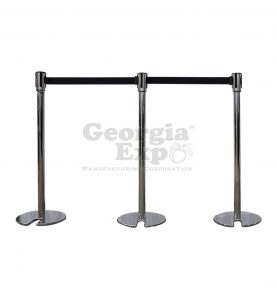 stackable retractable belt black stanchion