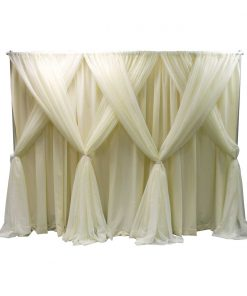 7 in 1 designer kit for wedding backdrop white sheer