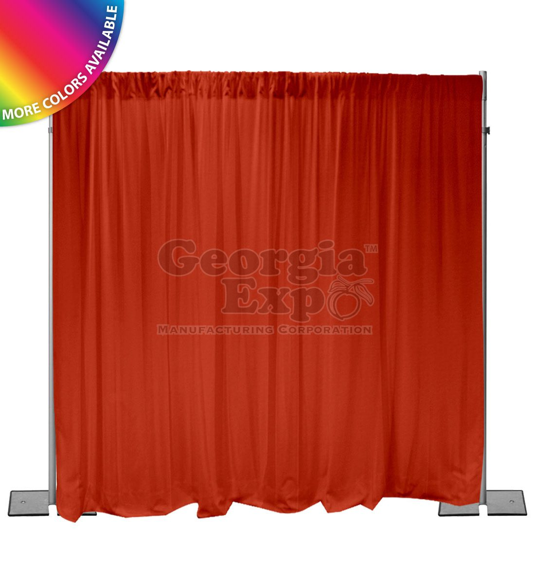 red back wall kit 10 feet adjustable height  sc 1 st  Georgia Expo & Pipe and Drape Backdrop Kit u2013 10FT LCB-Light Duty Adjustable Height ...