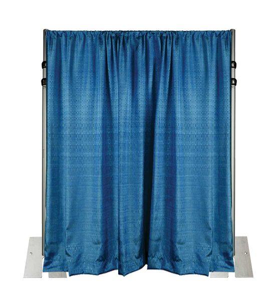 blue banjo drape wall 14 feet adjustable height kit