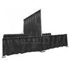 in line booths kit black