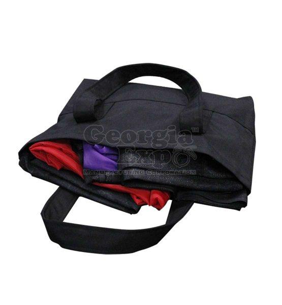 full black drape bag