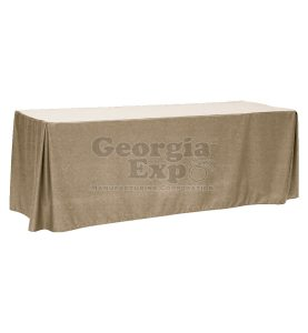 fitted table cover beige