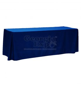 fitted table cover royal blue