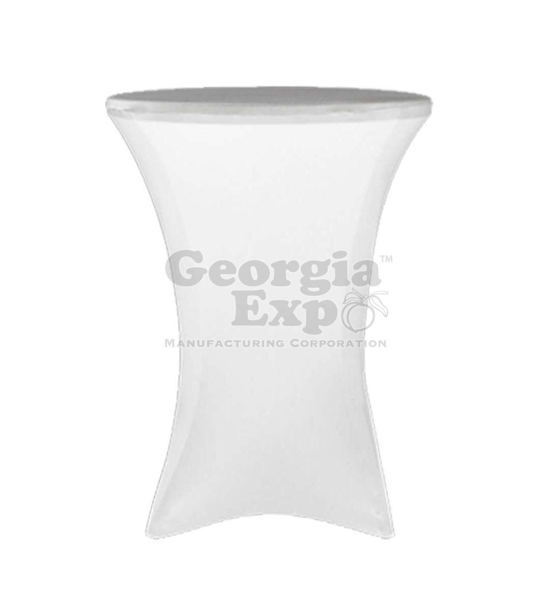 ... White Spandex Cocktail Table Cover ...