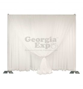double layer wedding sheer backdrop white
